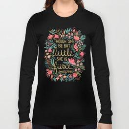 Little & Fierce on Charcoal Long Sleeve T-shirt