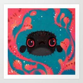 Angry puffer Art Print