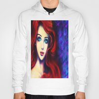ariel Hoodies featuring Ariel by Amanda Lee