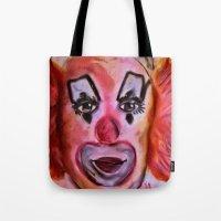 clown Tote Bags featuring Clown by Digital-Art