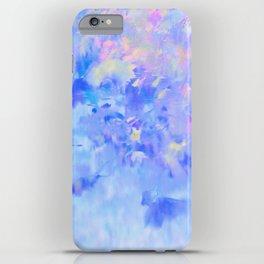 Blue Leaves under a Lavender Sky iPhone Case