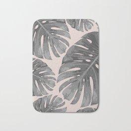Tropical palm veil Bath Mat