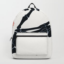 Butterfly on Skeleton Hand Backpack
