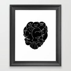Heads N°9 Framed Art Print