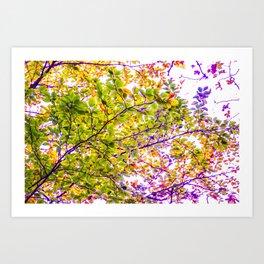 stylized branches Art Print