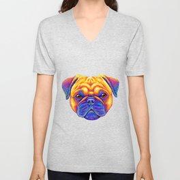 Comic Relief -  Colorful Pug Unisex V-Neck