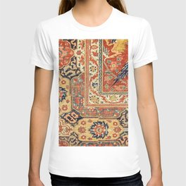 Indian Trellis II // 17th Century Ornate Medallion Red Blue Green Flowers Leaf Colorful Rug Pattern T-shirt