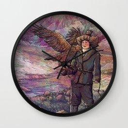 Eagle Huntress Wall Clock
