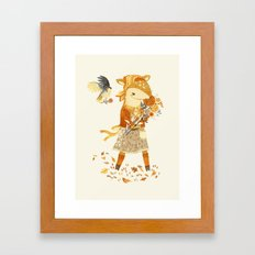 Dakota the Daisy Deer Framed Art Print