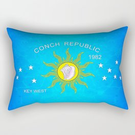 The Conch Republic Flag Rectangular Pillow