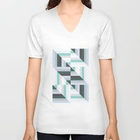 60s V-neck T-shirts featuring Maze | 60s by Wood + Ink