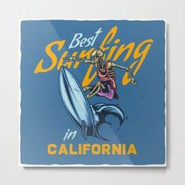 Best Surfing in California Metal Print
