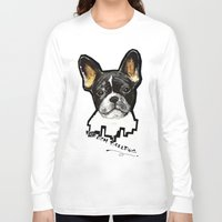 french bulldog Long Sleeve T-shirts featuring French Bulldog by Det Tidkun