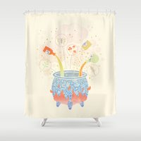 occult Shower Curtains featuring Dream Potion by LordofMasks