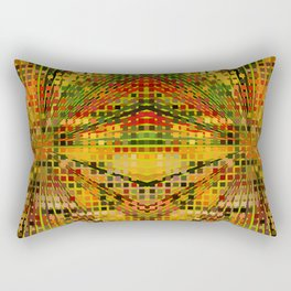 Autumn Mosaic. The mosaic pattern in yellow-green range of colors for decoration. Rectangular Pillow