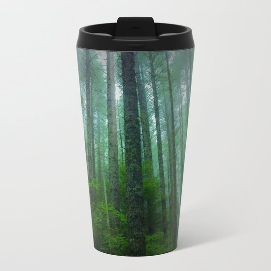 Misty Mountain Forest Metal Travel Mug