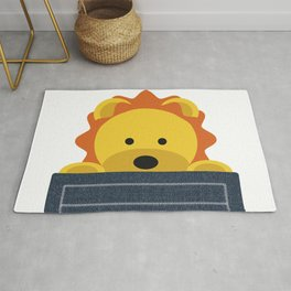 Cute lion in the pocket Rug