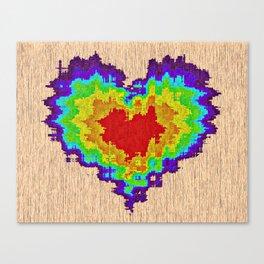 Colors heart Canvas Print