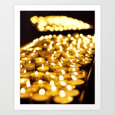 Prayer Candles in Church, Israel  Art Print
