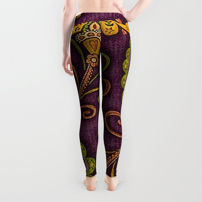 Floral Paisley Pattern 06 Leggings