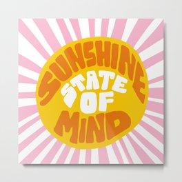 Sunshine Vibes Metal Print