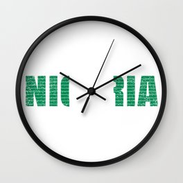 Nigeria National Flag Vintage Nigerian Country Gift Wall Clock