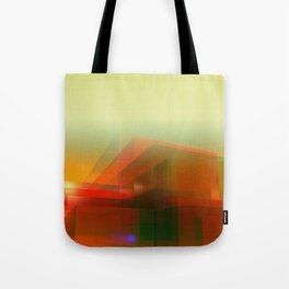 red glass - curtain Tote Bag