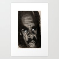 nick cave Art Prints featuring Nick Cave by Patrick Dea