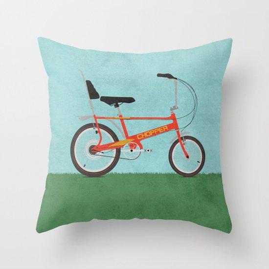 Chopper Bike Throw Pillow