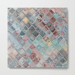 Colorful Abstract Tiles Metal Print
