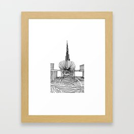 Dubai: Horro Vacui on an Urban Level Framed Art Print