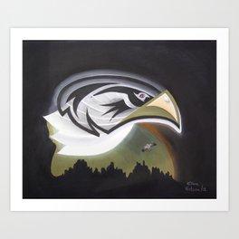 Eagle Rules the Moon Art Print
