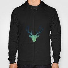Aqua Antlers Pattern Hoody