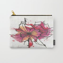 Pink and yellow Flower Explosion  Carry-All Pouch