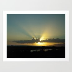 WEST MAUI SUNSET Art Print