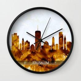 Jerusalem Israel Skyline Wall Clock