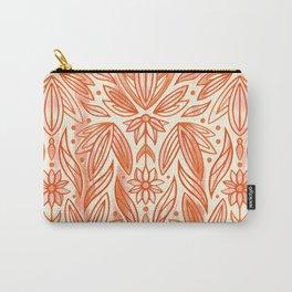 Rococo Peachy Orange Art Deco  Carry-All Pouch