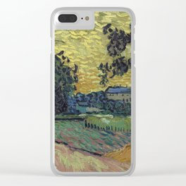 Vincent Van Gogh - Landscape at Twilight Clear iPhone Case