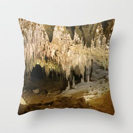 341 - Abstract cave design Throw Pillow