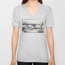 Elwood sleeping Unisex V-Neck