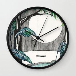Moonlight Swing Wall Clock