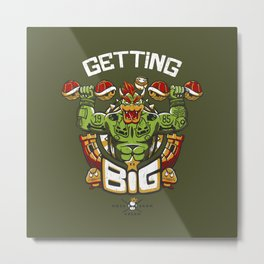 Getting Big Green Bowser Metal Print