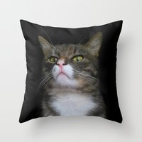 nope Throw Pillows featuring NOPE  by RasaOm