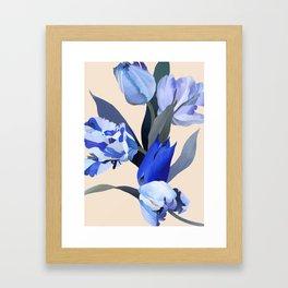 The melancholy of tulip Framed Art Print