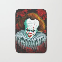 The Dancing Clown - Pennywise IT - Vector - Stephen King Character Bath Mat