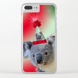 Christmas Koala Clear iPhone Case