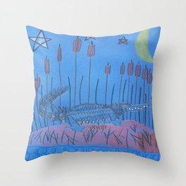 Night Swamp Throw Pillow