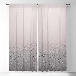 Blush Pink Sparkly Glitter Dust Blackout Curtain