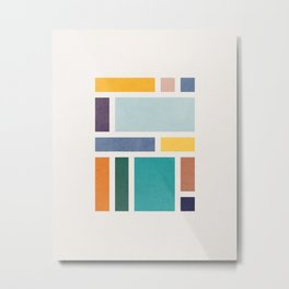 Rectangles 2 by Amalia Lopez Metal Print