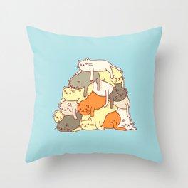 Meowtain Throw Pillow